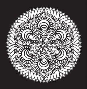мандала на черном фоне (24)