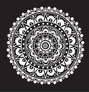 мандала на черном фоне (25)