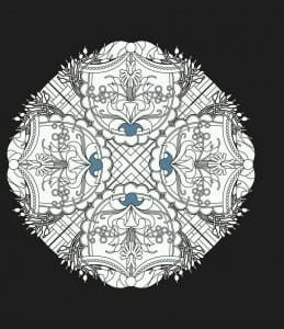 мандала на черном фоне (4)