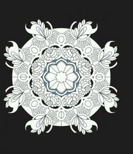 мандала на черном фоне (7)