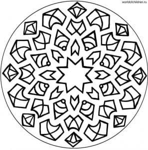 мандалы для раскрашивания распечатать формат а4