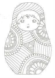 матрешки для детей детского сада картинки раскраски