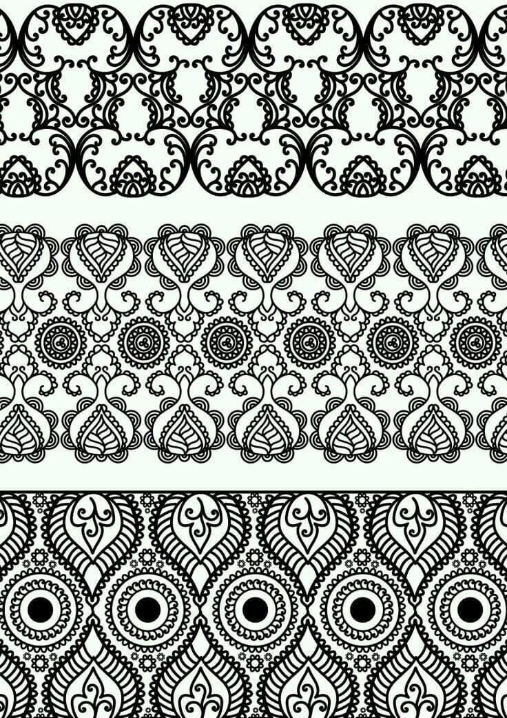 раскраска узоры и орнаменты - Рисовака