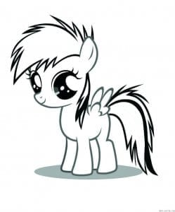 мой маленький пони раскраски напечатать