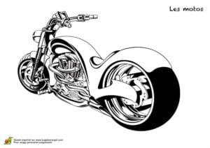 мотоцикл раскраска для детей