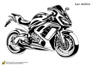 мотоцикл распечатать раскраска