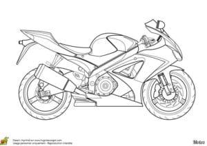мотоцикл скачать раскраска