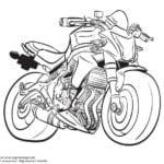 мотоциклы картинки раскраски