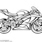 мотоциклы раскраска про
