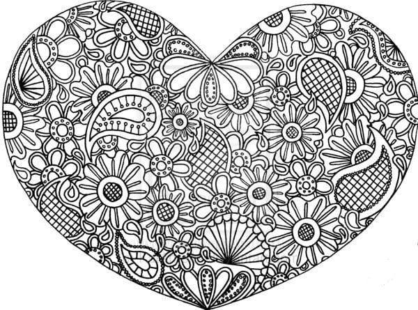 на день святого валентина распечатать бесплатно раскраски