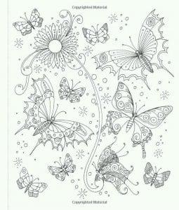 на тему бабочки раскраски