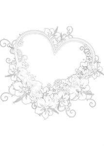 на валентин день распечатать бесплатно раскраски