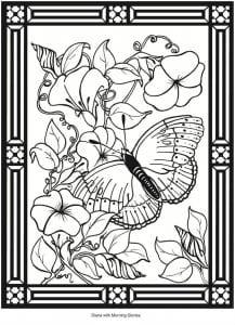 номерам бабочки раскраски по