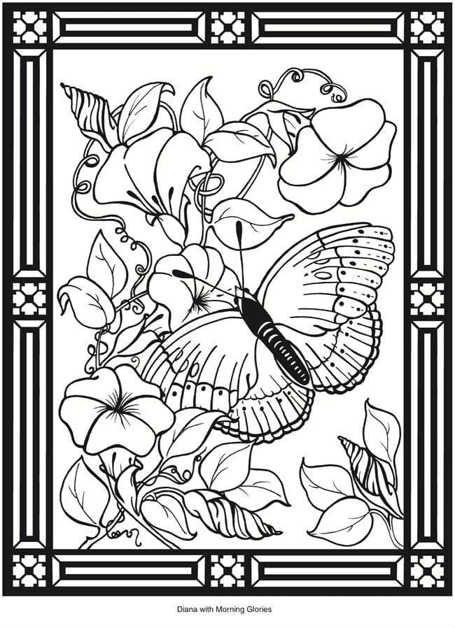 номерам бабочки раскраски по - Рисовака