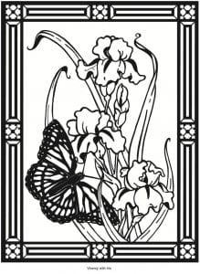 novye-raskraski-babochki-raspechatat-besplatno-219x300 Бабочки