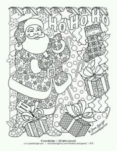 новый год и рождество раскраски