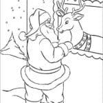 новый год и рождество раскраски А4