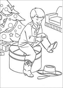 новый год распечатать раскраски для детей А4