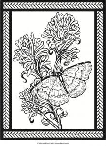 онлайн бесплатно раскраска бабочки