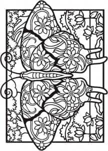 онлайн раскраски про бабочек