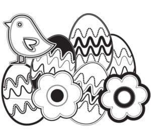 пасха яйца распечатать раскраски красивая
