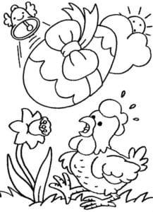 пасха раскраска для детей распечатать