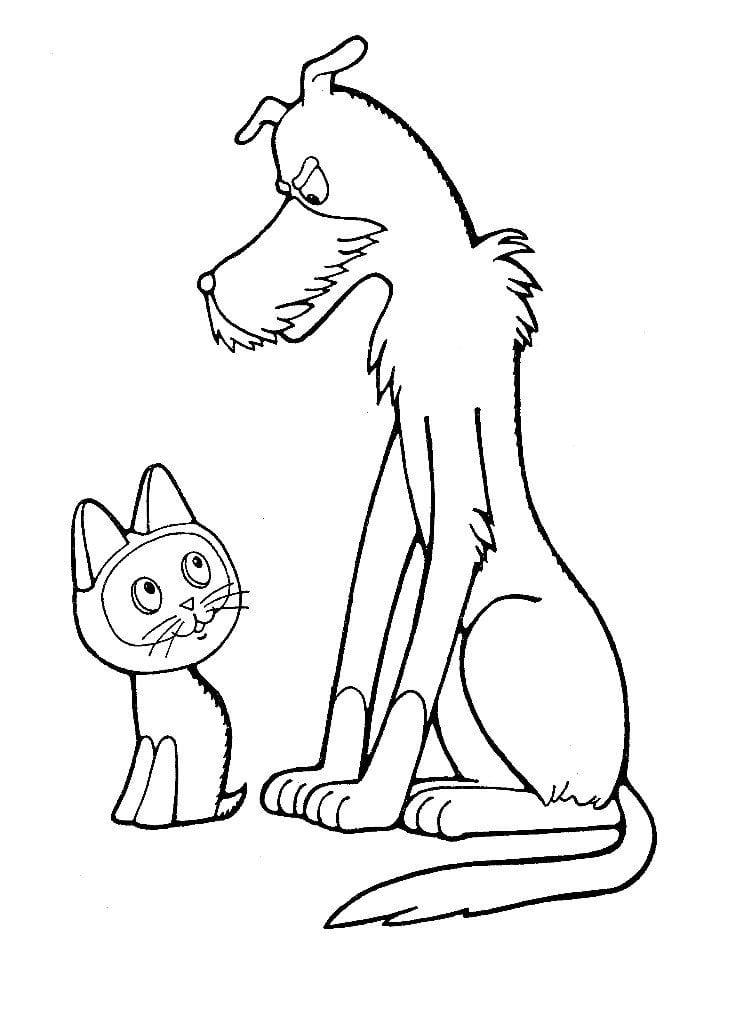 по имени гав раскраска распечатать котенок