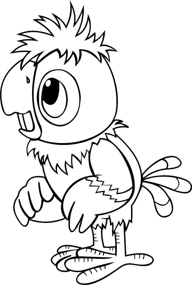 popugaj-kesha-raskraska попугай кеша раскраска