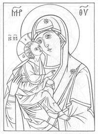 православные распечатать раскраски 1