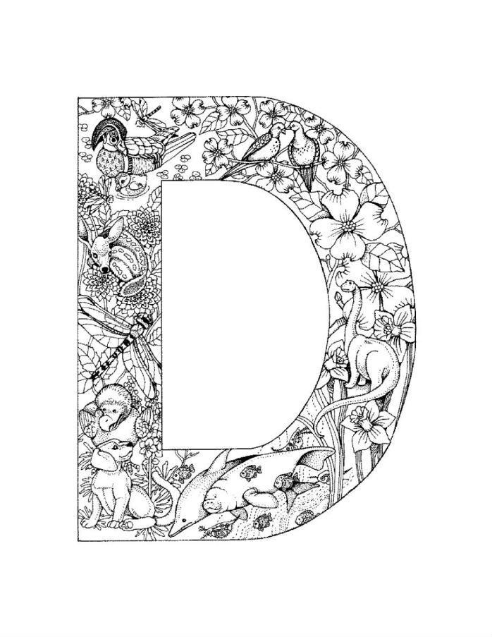 раскраска алфавит английских букв | Рисовака