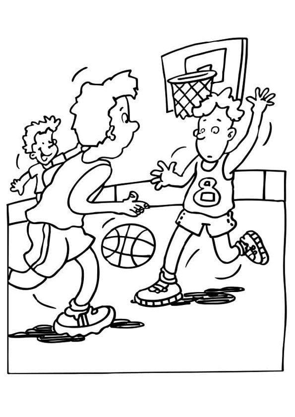 раскраска баскетбол распечатать 1 рисовака