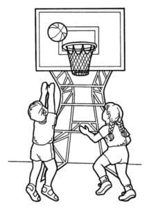 раскраска баскетбол распечатать (2)