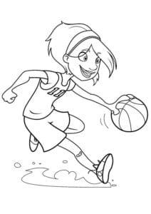 раскраска баскетбол распечатать (4)