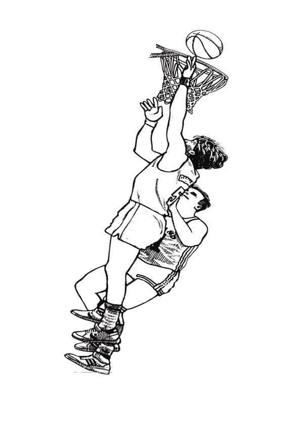 раскраска баскетбол распечатать 7 рисовака