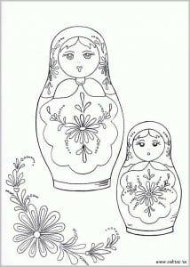 raskraska-dlja-detej-4-5-let-matreshka-214x300 Матрешки