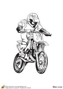 раскраска для детей мотоцикл