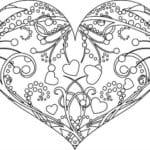 раскраска дню валентина бесплатно