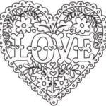 раскраска дню валентина распечатать бесплатно