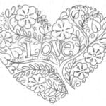 раскраска дню валентина распечатать