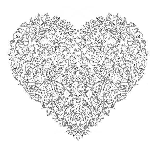 раскраска дню валентина скачать бесплатно