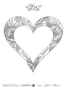 раскраска дню валентина скачать