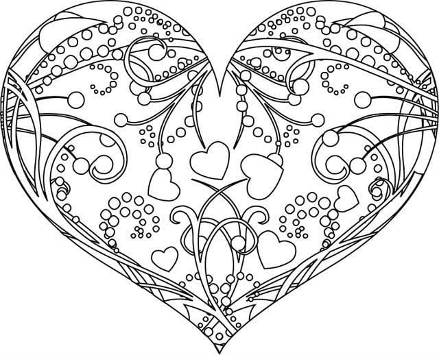 raskraska-dnju-valentina раскраска дню валентина бесплатно