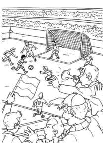 раскраска футбол распечатать (10)