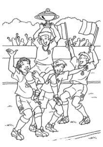раскраска футбол распечатать (11)