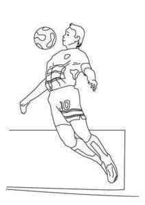 раскраска футбол распечатать (2)