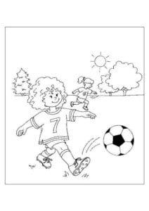 раскраска футбол распечатать (24)