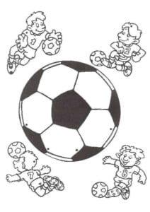 раскраска футбол распечатать (25)