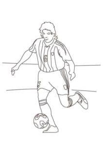 раскраска футбол распечатать (3)