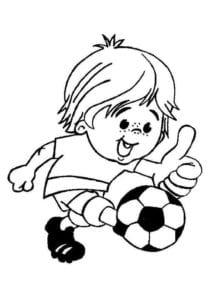 раскраска футбол распечатать (5)