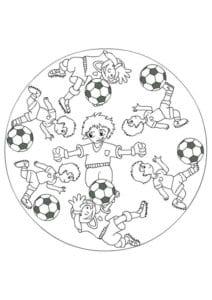 раскраска футбол распечатать (8)